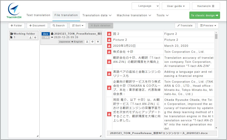 File translation dyspray