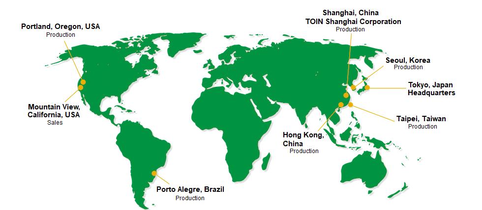 Europe Office / China Office / US Office / Tokyo Headquarters / Korea Office
